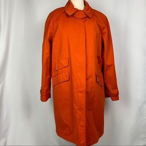 Michael Kors Orange Raincoat, Size Large